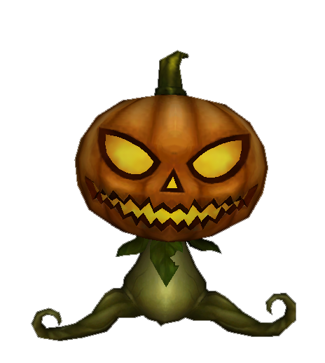 Trick or treat pumpkin head